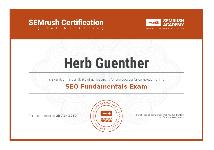 SEMRush SEO Fundimentals Certificate