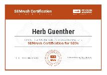 SEMRush SEO Academy Certificate