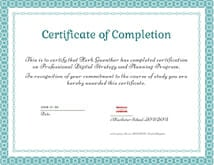 Digital Marketing Strategy Certificate